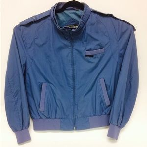 Members Only Vintage Blue Windbreaker Blue Jacket